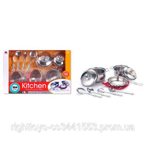 Посуда 555-BX020 (24шт) сковородка,кастрюли, кухон.набор,металл,10пр, в кор-ке,39,5-25,5-11,5см