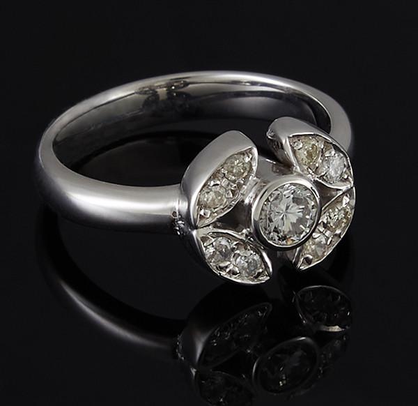Золотое кольцо с бриллиантами С43Л1№2