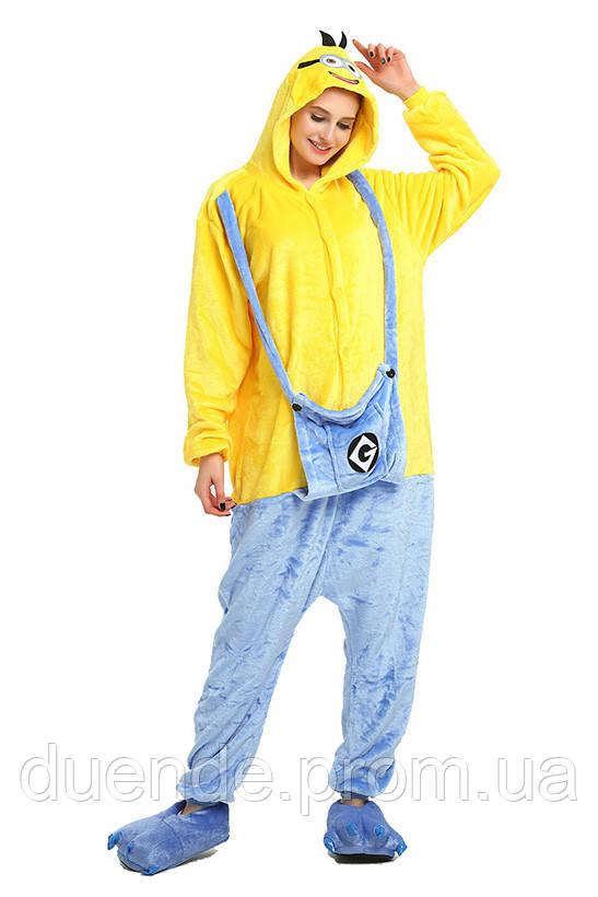 Кигуруми пижама Миньон, кигуруми Миньон для взрослых / Kig - 0048