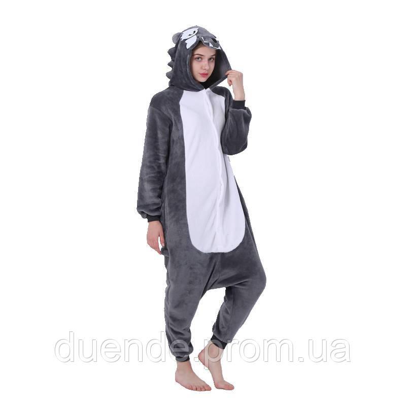 Кигуруми пижама Волк, кигуруми Волк для взрослых / Kig - 0050