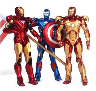 Набор фигурок Marvel, Железный Человек 3в1, 14 см - Iron Man Suits pack