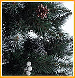 Заснеженная елка 2 м КАЛИНА с Шишкой ЁЛКА искусственная Искусственная 2 м Качественная Искусственная, фото 2