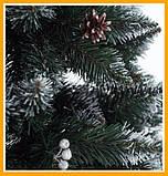 Заснеженная елка 2,2 м КАЛИНА с Шишкой ЁЛКА искусственная Искусственная 2.2 м Качественная, фото 2