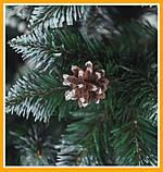 Заснеженная елка 2,2 м КАЛИНА с Шишкой ЁЛКА искусственная Искусственная 2.2 м Качественная, фото 3