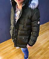 Зимняя длинная мужская куртка Moncler (реплика)