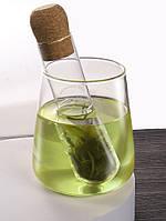 Чайный фильтр стелкляный в форме пробирки, фото 2