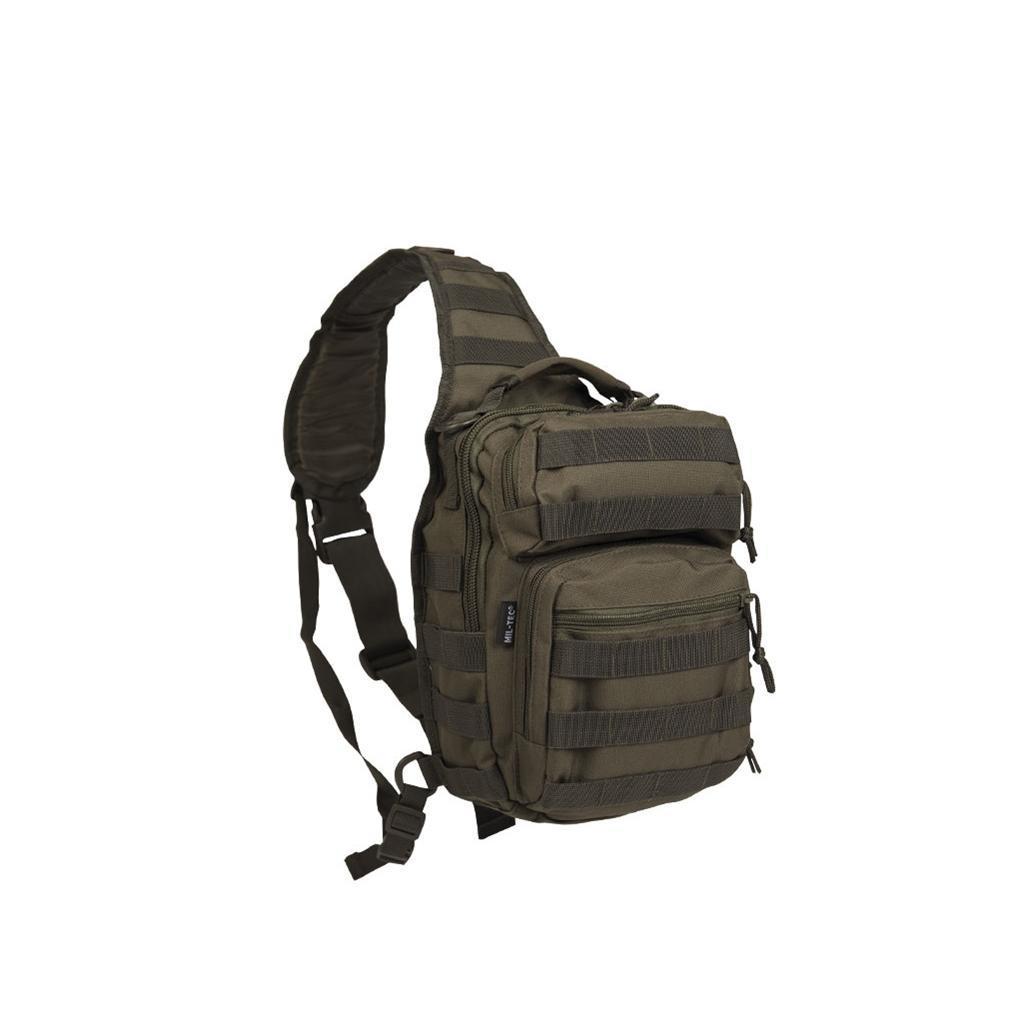 Тактическая сумка однолямка Small Assault Pack MOLLE by MIL-TEC олива
