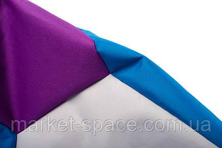 Кресло мяч «BOOM» 60см 3х-цветный (сине-фиолетовый), фото 2