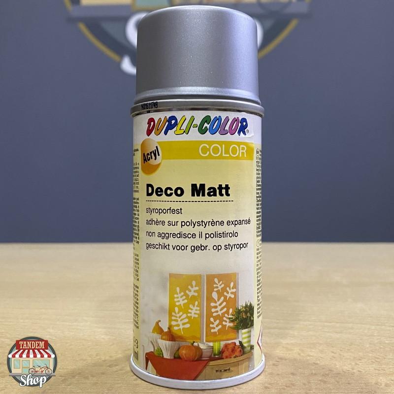 Эмаль декоративная матовая Dupli Color Deco Matt, 150 мл Аэрозоль Серебристый