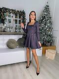 Платье женское нарядное из замши чёрный, мокко, терракот, графит, фрез 42-44,44-46, фото 5