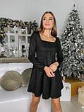 Платье женское нарядное из замши чёрный, мокко, терракот, графит, фрез 42-44,44-46, фото 3