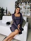 Платье женское нарядное из замши чёрный, мокко, терракот, графит, фрез 42-44,44-46, фото 10