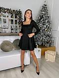 Платье женское нарядное из замши чёрный, мокко, терракот, графит, фрез 42-44,44-46, фото 9