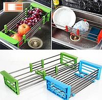 Многофункциональная складная кухонная полка Kitchen Drain Shelf Rack от 33см до 48см, фото 1