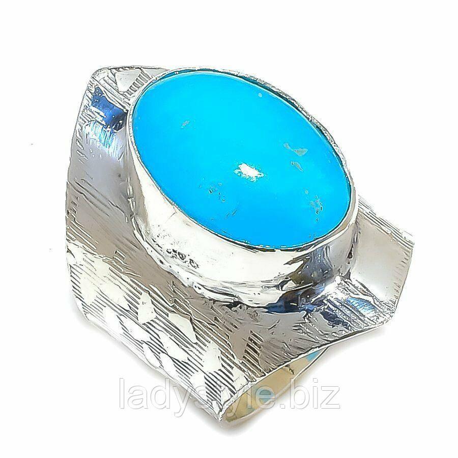 Серебряное кольцо с  смитсонитом , размер 19,7