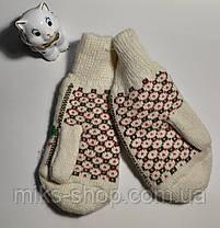 Варежки рукавиці 100 % шерсть, фото 3