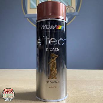 Краска (эмаль) с эффектом бронзы Motip Deco Effect, 400 мл Аэрозоль Медь