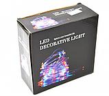 Xmas гирлянда PIPE 10M 100Led M-3 Мультицветная USB (6 режимов) Уличная 7284 Новогодняя гирлянда, фото 2