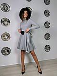 Платье женское с сумочкой чёрный, бежевый, пудра, хаки, серый 42-44,44-46, фото 2