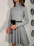 Платье женское с сумочкой чёрный, бежевый, пудра, хаки, серый 42-44,44-46, фото 6
