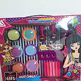 Набор детской косметики с мелками для волос, фото 2