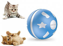 Интерактивный USB smart мячик для кошки и собаки с хаотичным движением и световыми эффектами