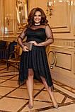 Платье нарядное красивое ассиметричное, батал, разные цвета р.50-52,54-56,58-60 Код 9778Е, фото 5