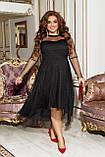 Платье нарядное красивое ассиметричное, батал, разные цвета р.50-52,54-56,58-60 Код 9778Е, фото 10