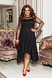 Платье нарядное красивое ассиметричное, батал, разные цвета р.50-52,54-56,58-60 Код 9778Е, фото 9