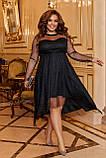 Платье нарядное красивое ассиметричное, батал, разные цвета р.50-52,54-56,58-60 Код 9778Е, фото 6
