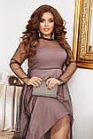 Платье нарядное красивое ассиметричное, батал, разные цвета р.50-52,54-56,58-60 Код 9778Е, фото 3