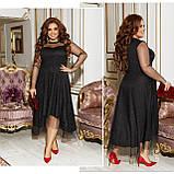 Платье нарядное красивое ассиметричное, батал, разные цвета р.50-52,54-56,58-60 Код 9778Е, фото 7
