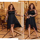 Платье нарядное красивое ассиметричное, батал, разные цвета р.50-52,54-56,58-60 Код 9778Е, фото 8