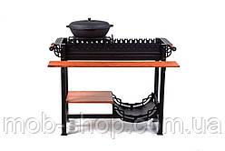 Мангал-барбекю для дачи и дома SmokeHouse (уличный стационарный домашний мангал для шашлыков)