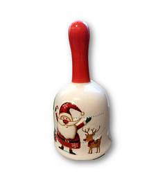 Колокольчик керамический  Санта классический