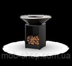 Гриль-мангал, барбекю  HOLLA GRILL Black Open открытая тумба мангал барбекю для дома