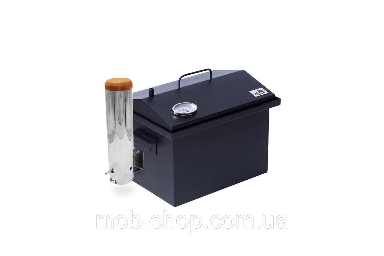 Коптильня с дымогенератором и термометром окрашенная (400х300х310)