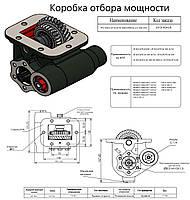 Коробка отбора мощности КОМ Iveco/Renault PTO ZF 6S300/S6350 пневматическая