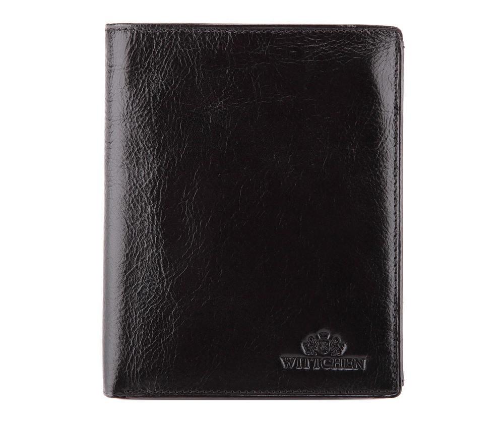 Мужской кожаный кошелек WITTCHEN черный 21-1-221-1