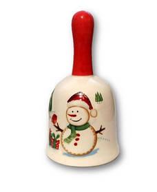 Колокольчик керамический Снеговик классический