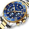 Красивые мужские наручные часы Megalith 8046M Gold, фото 7