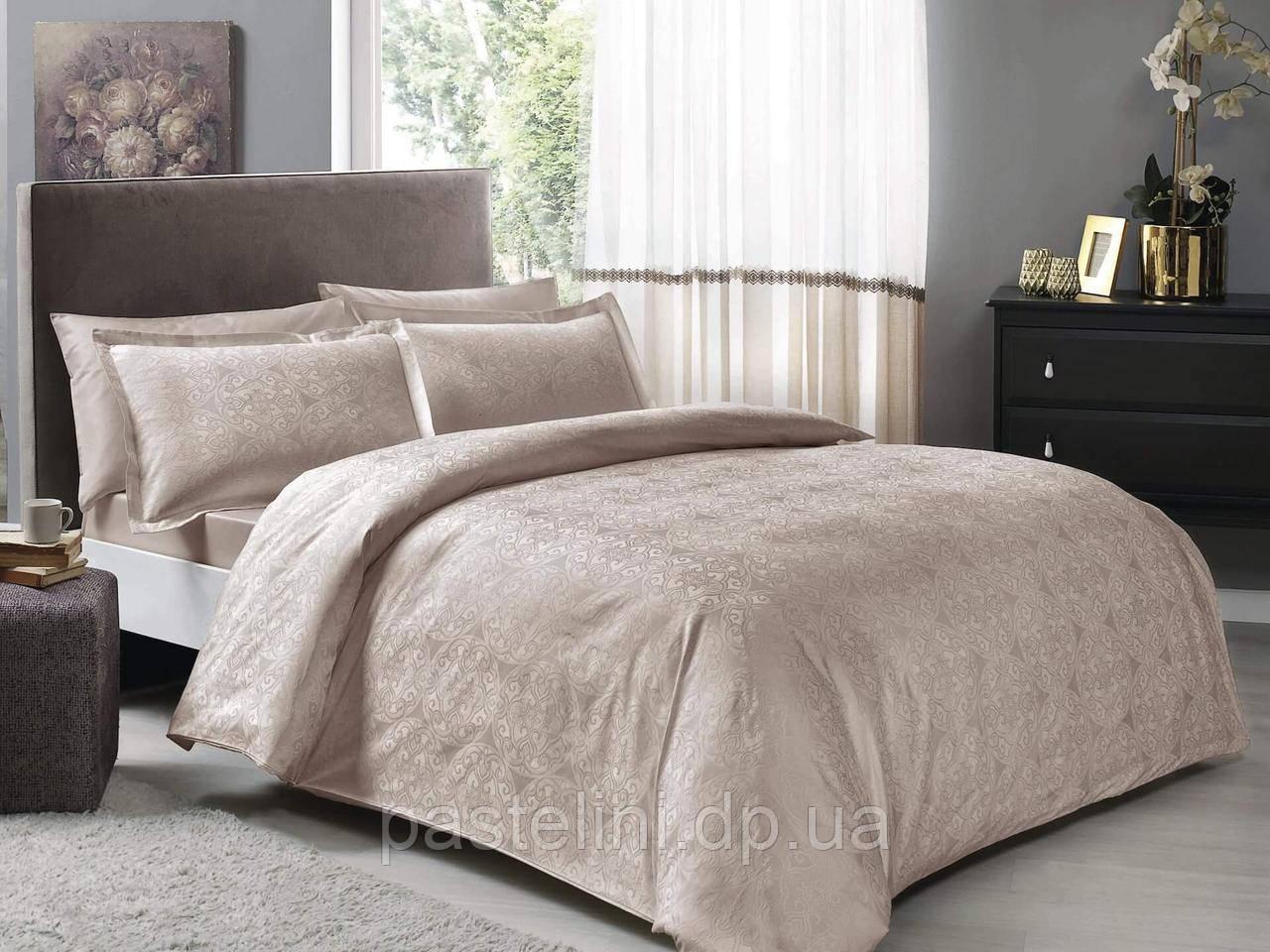 TAC Nodus  vizon   жаккардовый евро комплект постельного белья