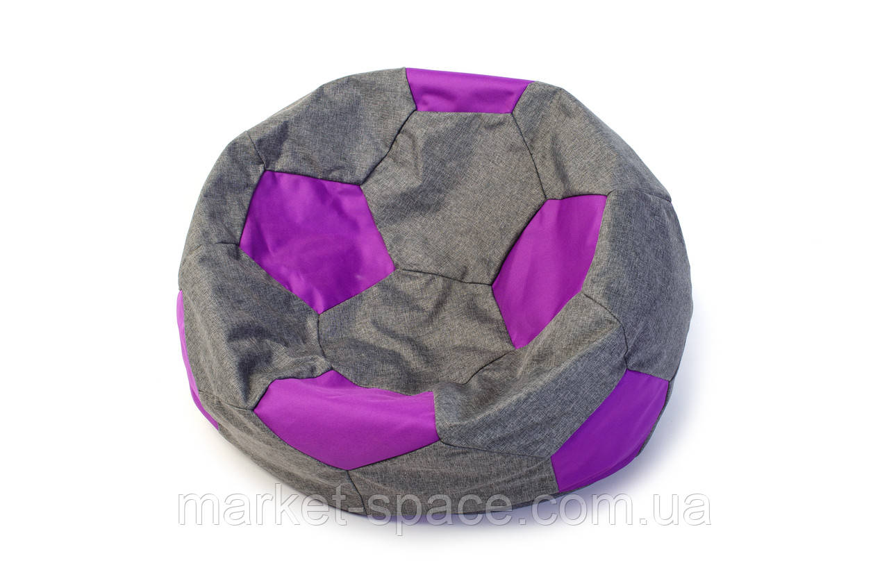 Кресло мяч «BOOM» 60см серо-фиолетовое