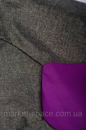 Кресло мяч «BOOM» 60см серо-фиолетовое, фото 2