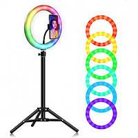 Кольцевая лампа RGB 33 см диаметром со штативом