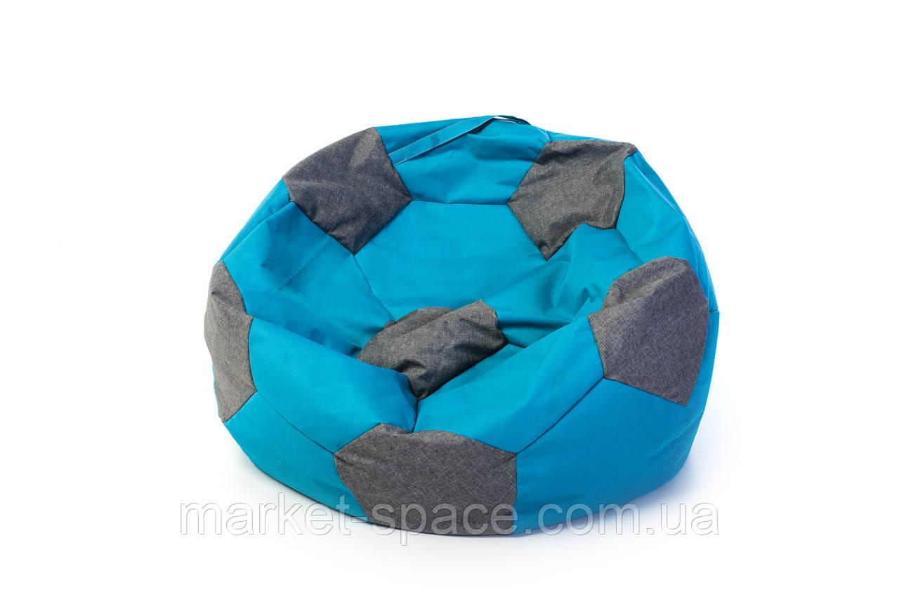 Кресло мяч «BOOM» 60см бирюза-серый