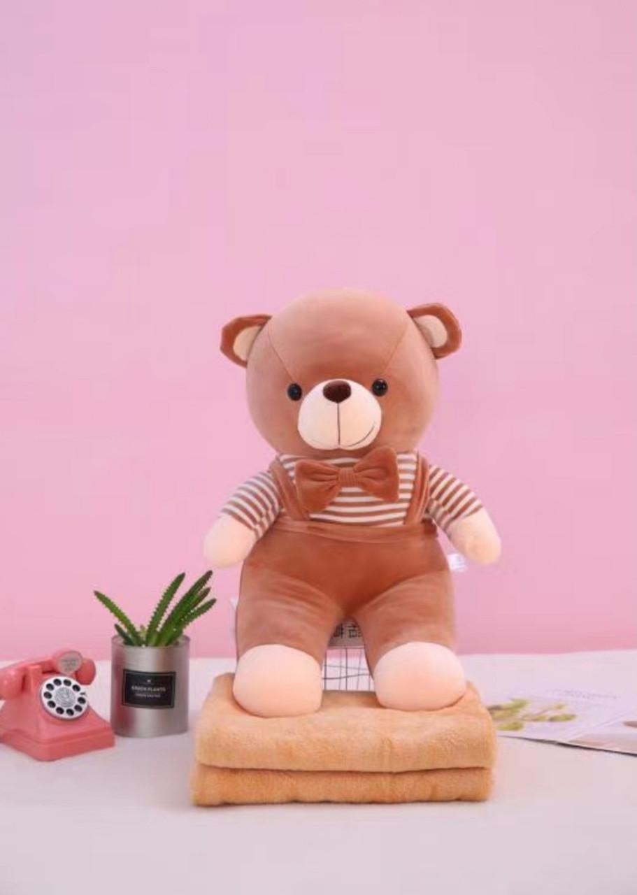 """Детская мягкая игрушка с пледом """"Медвежонок"""""""