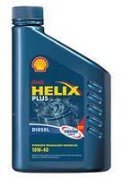 SHELL 10W40 Helix Plus Diesel (син.) 4 л.(шелл)