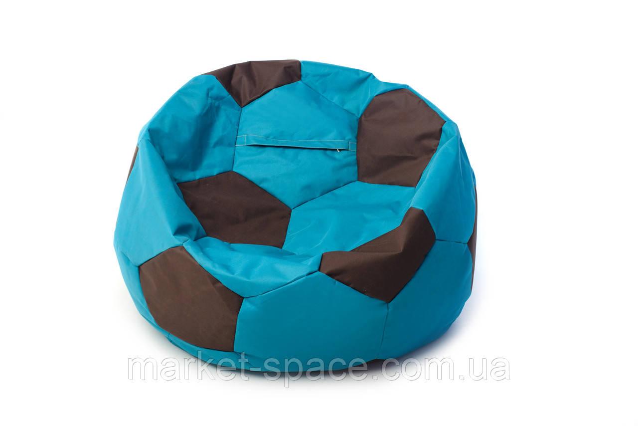 Кресло мяч «BOOM» 60см бирюза-коричневый