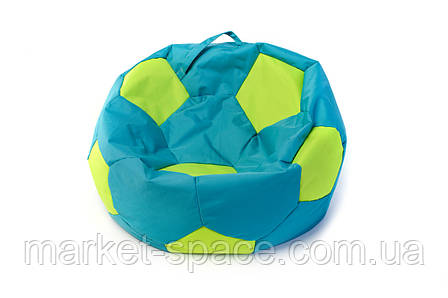 Кресло мяч «BOOM» 60см бирюза- салат, фото 2